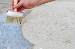 Painting The Floor Royalty Free Stock Photo