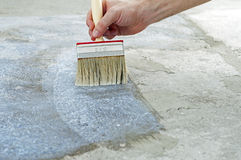 Painting The Floor Royalty Free Stock Images