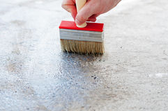 Painting The Floor Royalty Free Stock Image