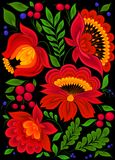 Painting floral background,. Design pattern Royalty Free Stock Photo