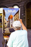 Painting in Florence Stock Photos