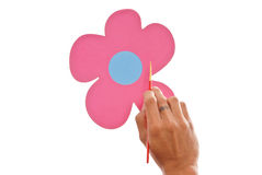 Painting a Flower Royalty Free Stock Image