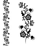 Painting flower, seamless pattern floral ornament Stock Images