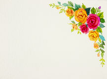 Painting flowers art watercolor pattern original colorful of rose Royalty Free Stock Images