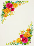 Painting flowers art watercolor pattern original colorful of rose Stock Photos