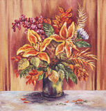 Painting Flowers Lilies Royalty Free Stock Images
