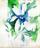 Painting flowers stock image
