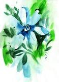 Painting flowers Stock Photo