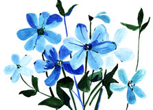 Painting flowers Stock Photography