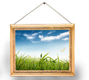 Painting with frame Royalty Free Stock Images