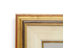 Painting Frame Detail. The corner part of a wooden painting frame royalty free stock photography