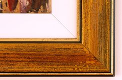 Painting frame details Stock Image