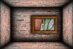 Painting frame with weathered textures Stock Photography