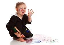 Painting Fun! stock photo