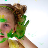 Painting is fun for kid Stock Photo