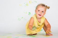 Painting is fun for kid Royalty Free Stock Photos