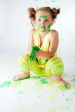 Painting is fun for kids Royalty Free Stock Photography