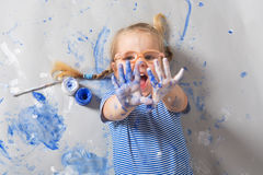 Painting is fun for kids Stock Photography