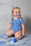 Painting is fun for kids Stock Photos