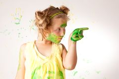 Painting is fun for kids Stock Images