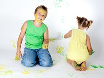 Painting is fun for kids Royalty Free Stock Image