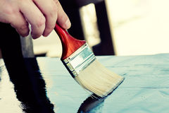 Painting furniture Stock Photo