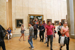 Painting gallery at the Louvre- Paris Stock Photo