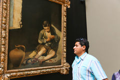 Painting gallery at the Louvre- Paris Royalty Free Stock Photo