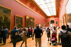 Painting gallery at the Louvre- Paris Stock Photography