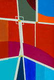 A painting; geometric abstraction. Royalty Free Stock Photography