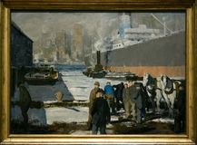 A painting by George Bellows in the National Gallery in London Stock Photo