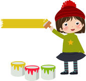 Painting girl Stock Photography