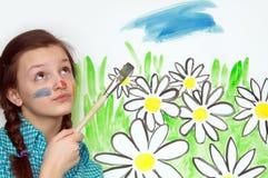 Painting Girl Royalty Free Stock Photos