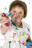 Painting Girl Stock Images