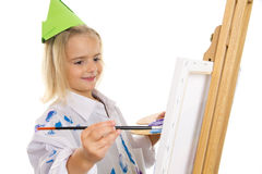 Painting Girl Stock Photos