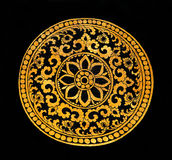 The Painting golden pattern Royalty Free Stock Photos