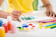 Painting with gouache Royalty Free Stock Photos