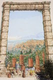 Painting of Grasse city Stock Photo