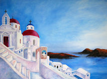 Painting of Greece Royalty Free Stock Photography