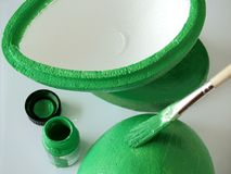 Painting green Royalty Free Stock Image