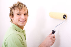 Painting guy Stock Image