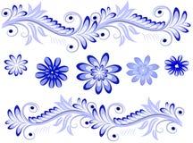 Painting gzhel Royalty Free Stock Photography