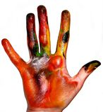 Painting hands Stock Image