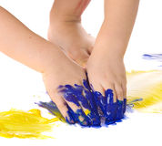 Painting hands Royalty Free Stock Photography