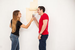 Painting and having fun Royalty Free Stock Photo
