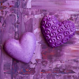 Painting with heart Stock Images