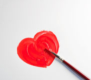 Painting Heart Stock Images