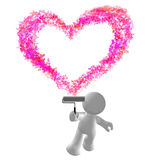 Painting heartl icon Stock Photography