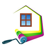 Painting home design Stock Images