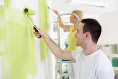 Painting home Stock Photos